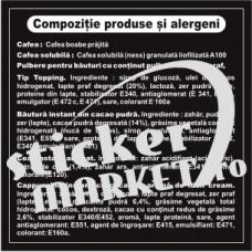 sticker informare produse