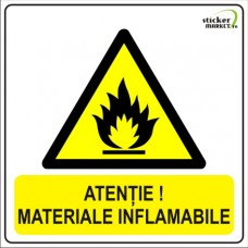 Materiale inflamabile 14x14cm