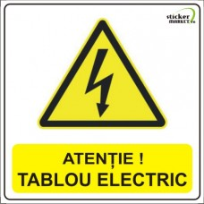 Sticker psi tablou electric 14x14cm