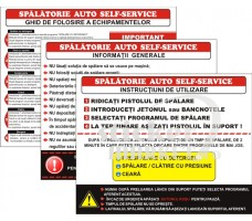 autocolante spalatorie self service
